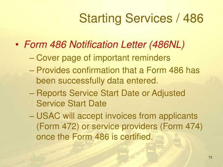Starting Services / 486