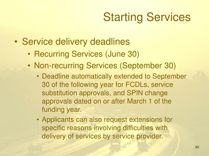 Starting Services