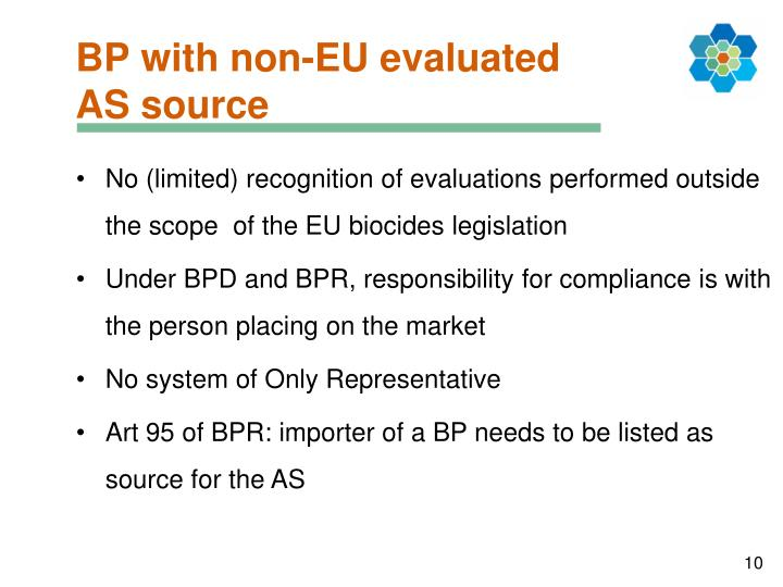 BP with non-EU evaluated AS source