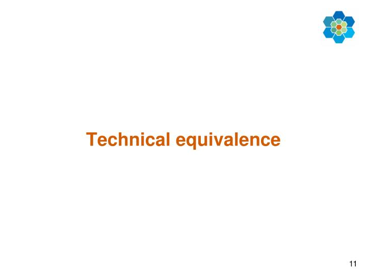 Technical equivalence