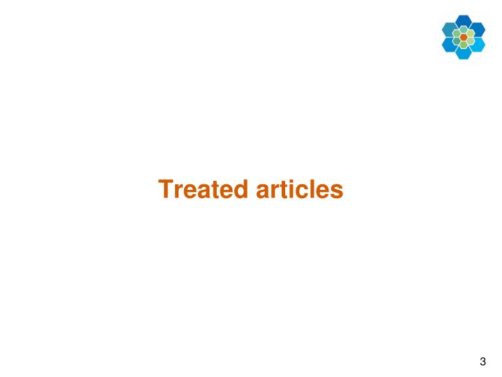 Treated articles