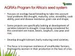 agra s program for africa s seed system