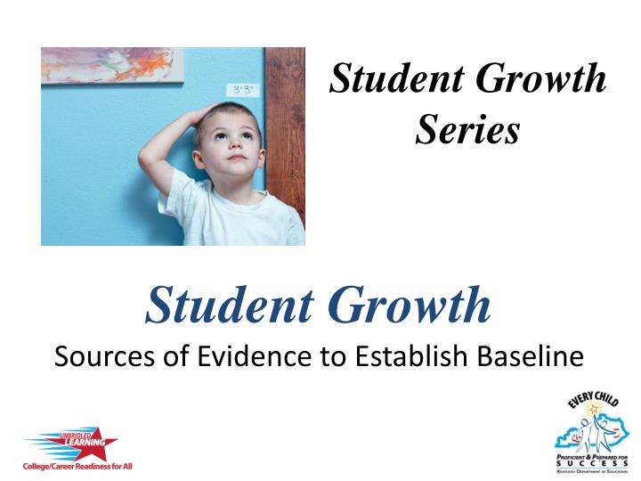 student growth sources of evidence to establish baseline