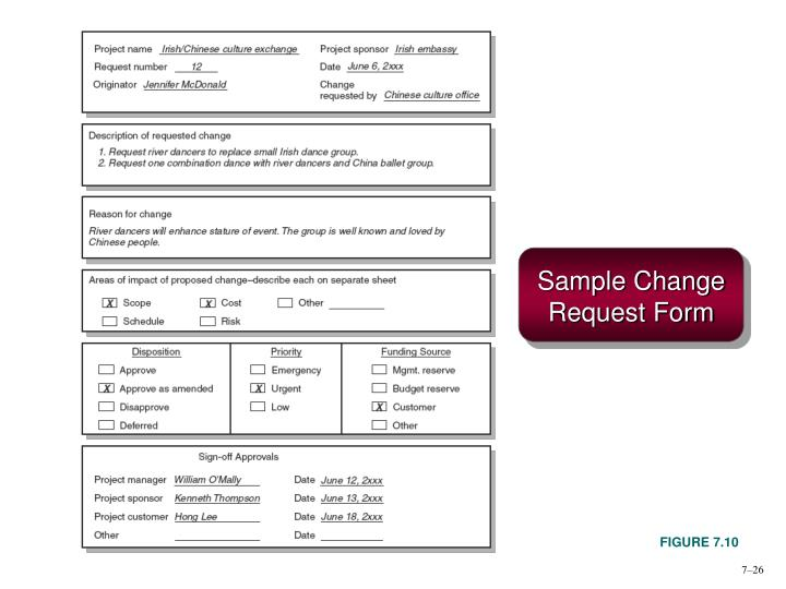 Sample Change Request Form