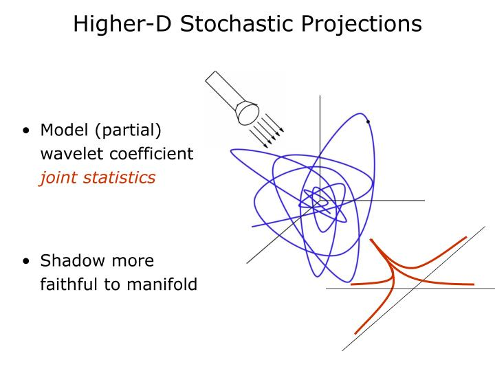 Higher-D Stochastic Projections