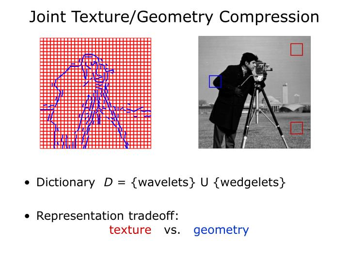 Joint Texture/Geometry Compression