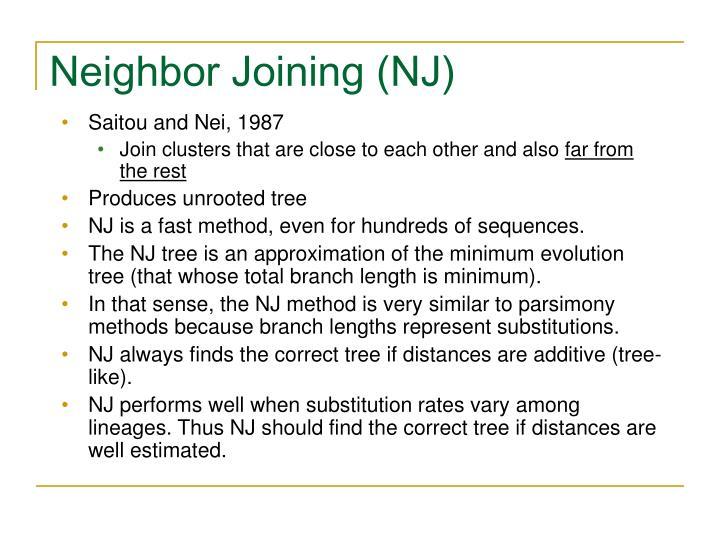 Neighbor Joining (NJ)