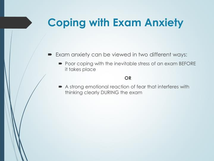 Coping with Exam Anxiety