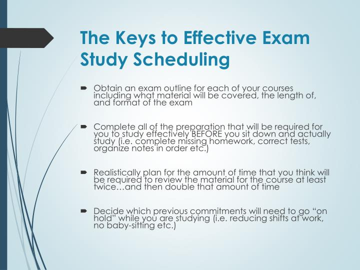 The Keys to Effective Exam Study Scheduling
