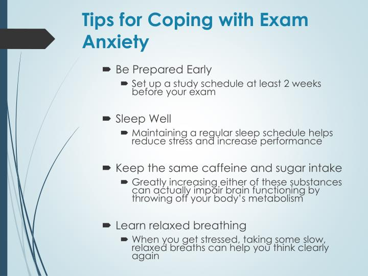 Tips for Coping with Exam Anxiety