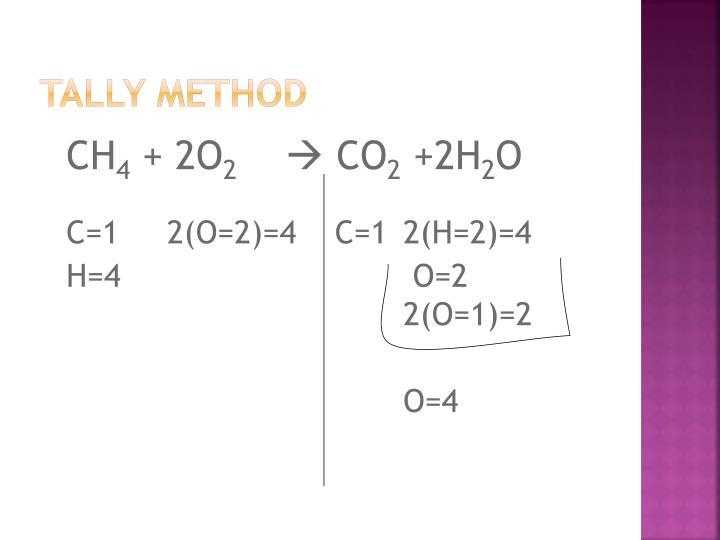 Tally method