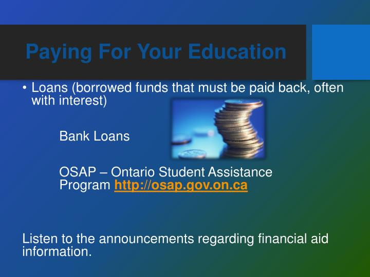 Paying For Your Education