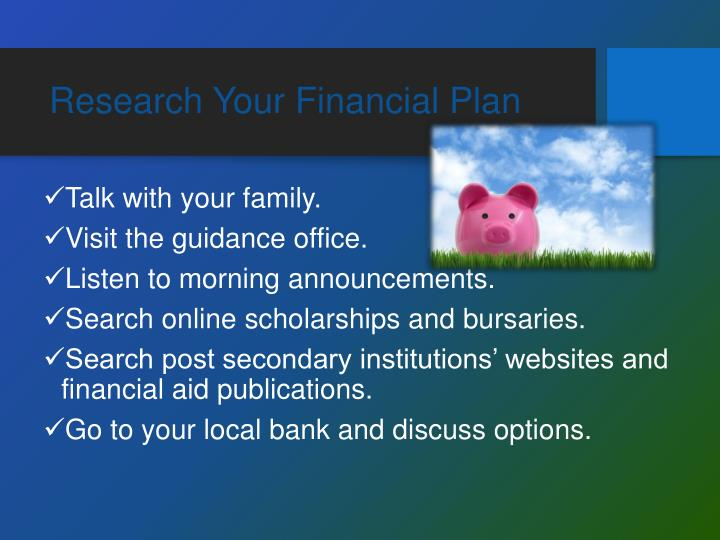 Research Your Financial Plan
