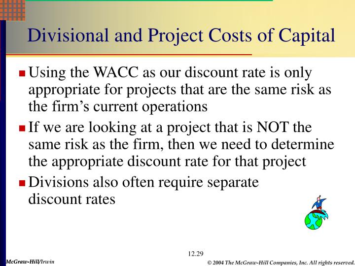Divisional and Project Costs of Capital