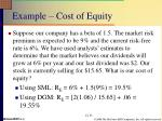 example cost of equity