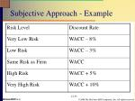 subjective approach example