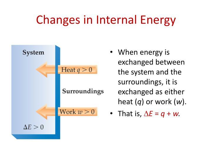 Changes in Internal Energy