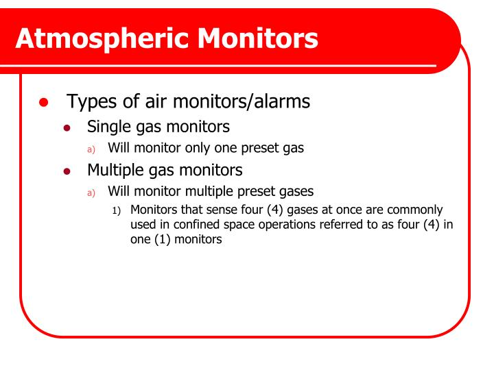 Atmospheric Monitors