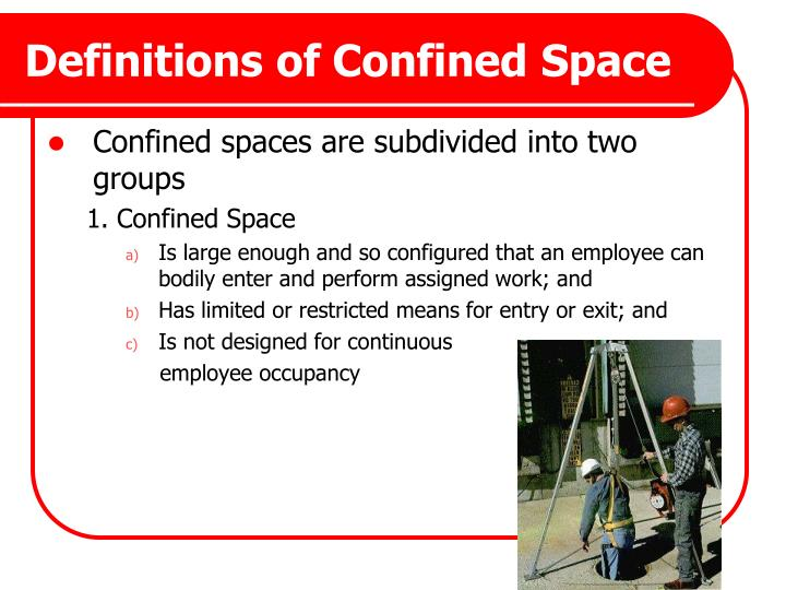 Definitions of Confined Space
