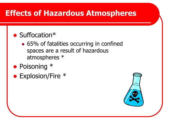 Effects of Hazardous Atmospheres