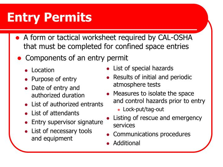 Entry Permits