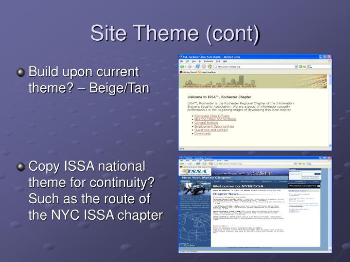 Site Theme (cont)