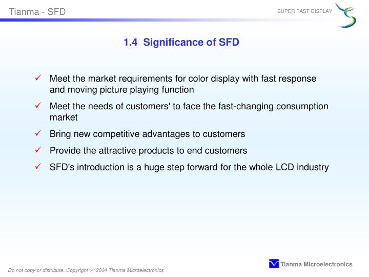 1.4  Significance of SFD
