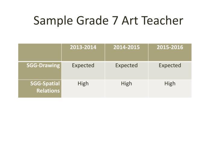 Sample Grade 7 Art Teacher