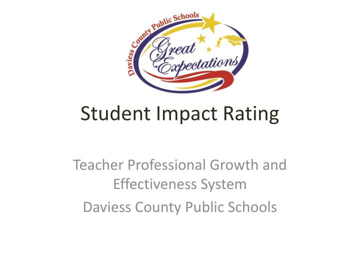 Student Impact Rating
