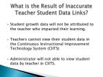 what is the result of inaccurate teacher student data links
