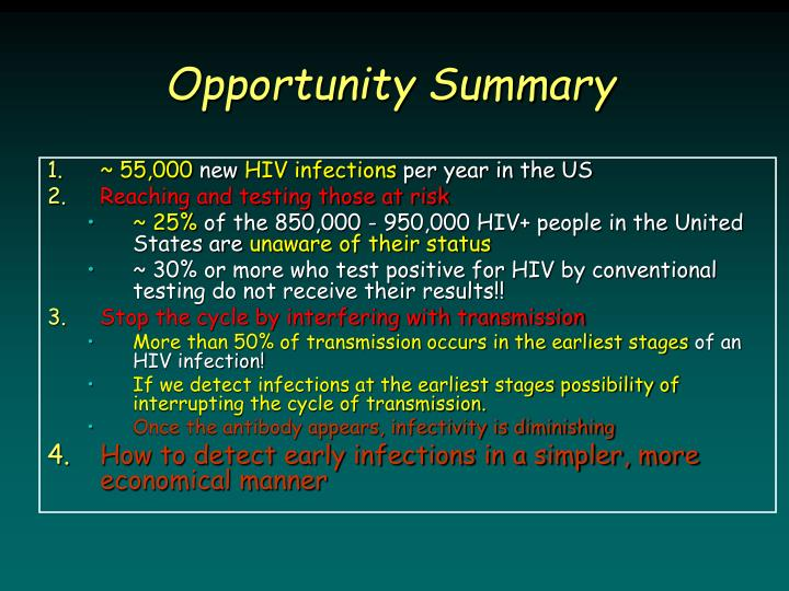 Opportunity Summary