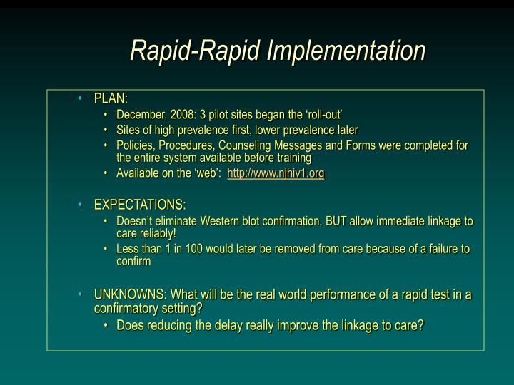 Rapid-Rapid Implementation