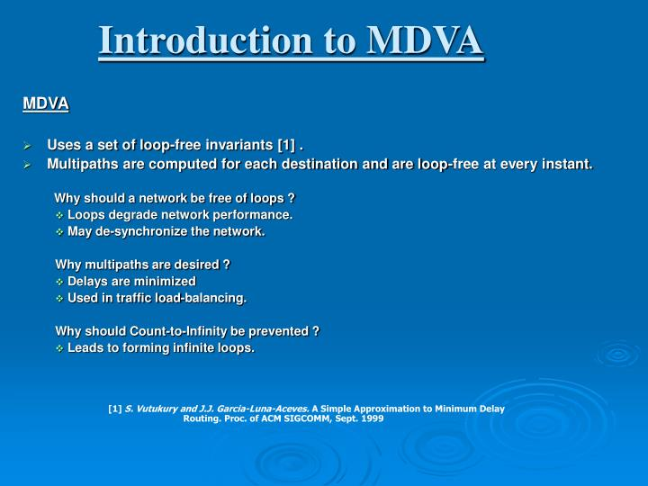 Introduction to MDVA