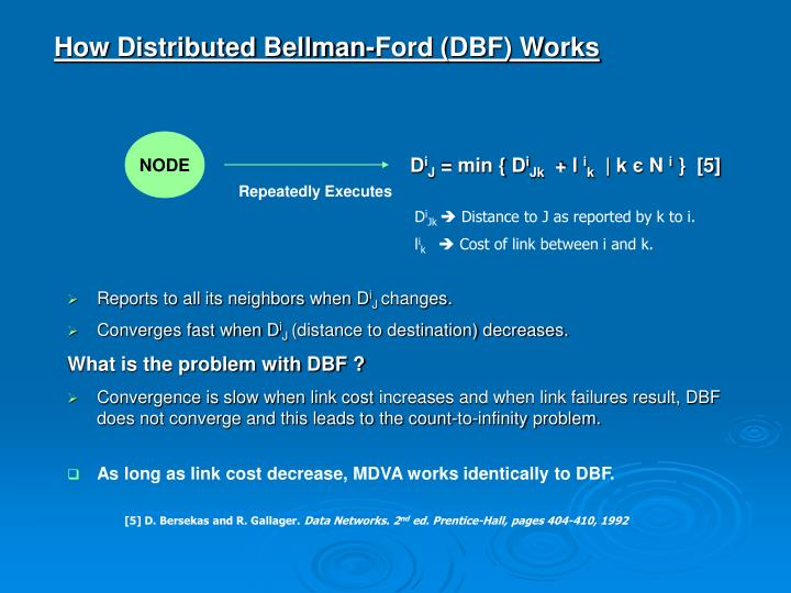 How Distributed Bellman-Ford (DBF) Works