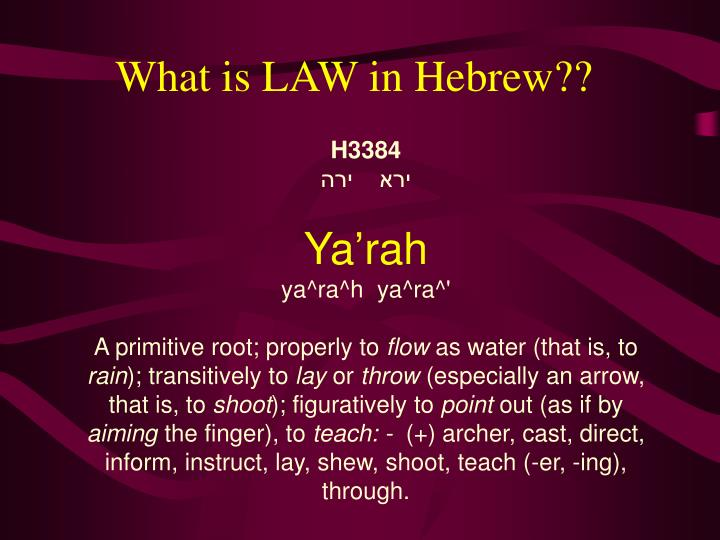 What is LAW in Hebrew??