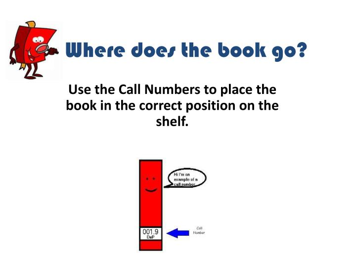 where does the book go