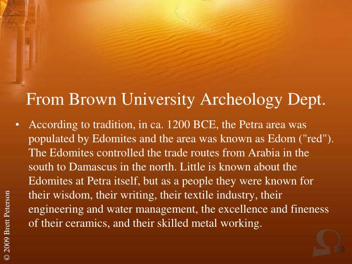 From Brown University Archeology Dept.