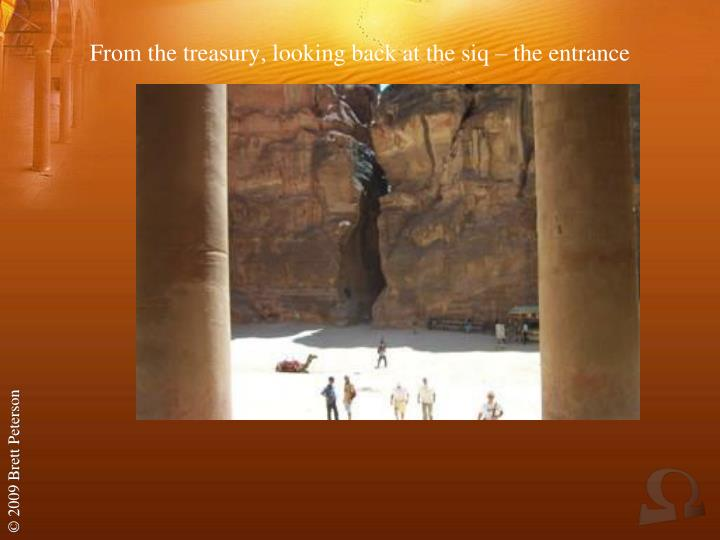 From the treasury, looking back at the siq – the entrance