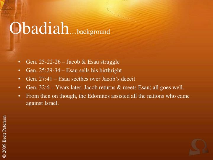 Obadiah background