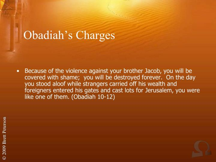 Obadiah's Charges