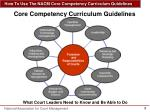 core competency curriculum guidelines