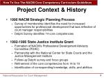 project context history