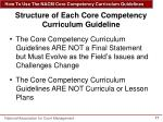 structure of each core competency curriculum guideline1