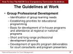the guidelines at work1