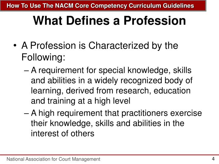 What Defines a Profession