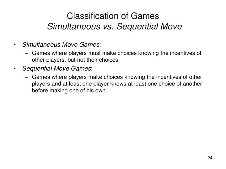 Classification of Games