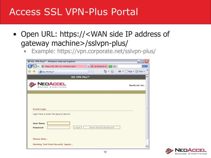Access SSL VPN-Plus Portal