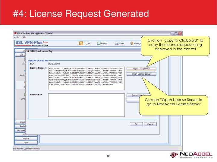 #4: License Request Generated