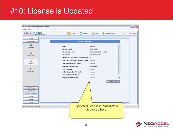 #10: License is Updated