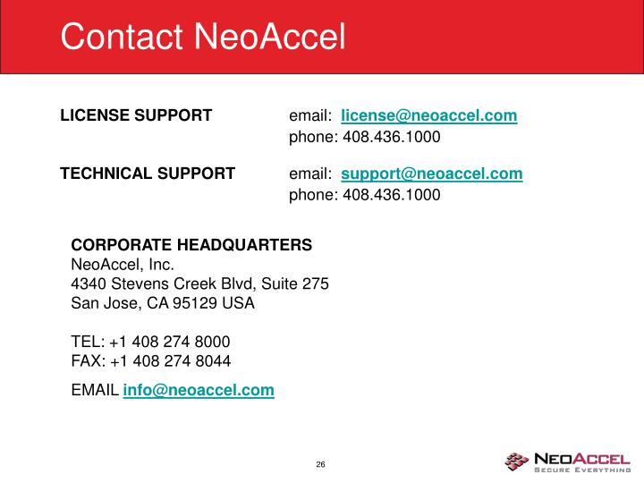 Contact NeoAccel